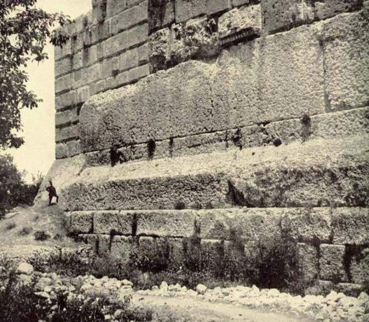Baalbek-Old-Photo-of-Ancient-Stone-Megalith-Foundations