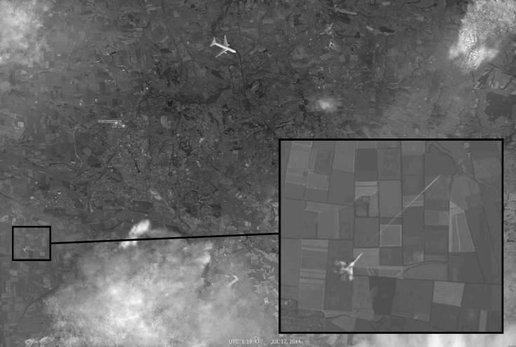 Ukraine Satellitenbild Abschuss MH17